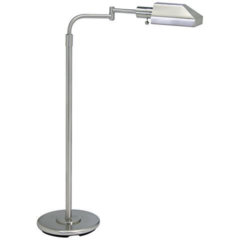 House of Troy Satin Nickel Adjustable Pharmacy Floor Lamp