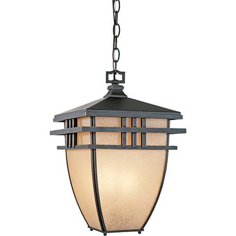 "Dayton 16 1/2"" High Aged Bronze Patina Outdoor Hanging Light"