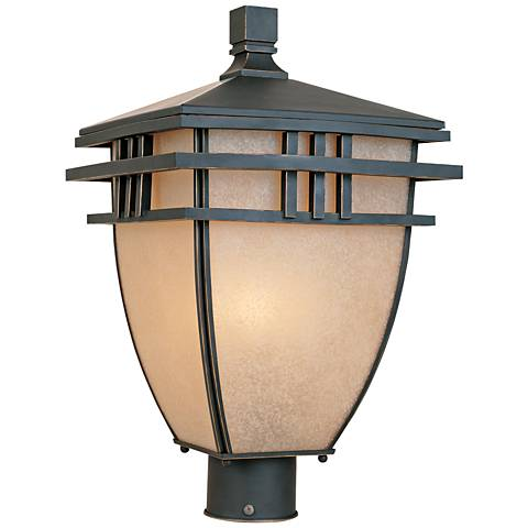 "Dayton 18""H 3-Light Aged Bronze Patina Outdoor Post Light"