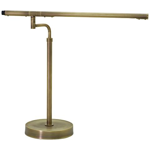 House of Troy Slim Line LED Antique Brass Task Desk Lamp