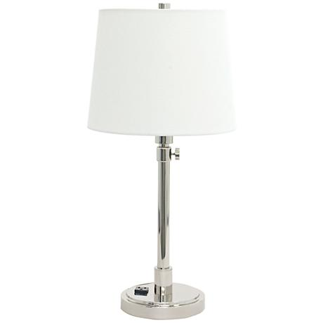 of troy townhouse nickel desk lamp with outlet 8y611 lamps plus. Black Bedroom Furniture Sets. Home Design Ideas