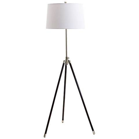 House of Troy Adjustable Satin Nickel Tripod Floor Lamp