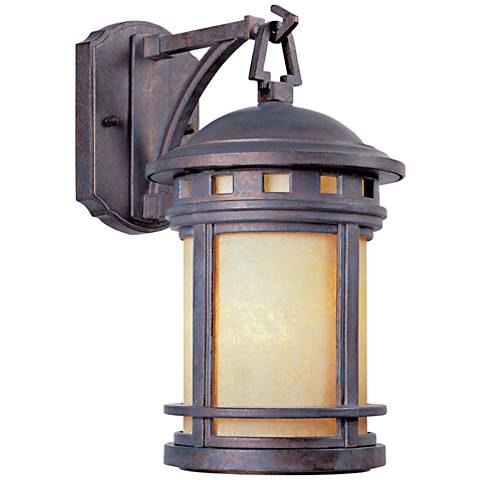 "Sedona 10 3/4""H Mediterranean Patina Outdoor Wall Light"