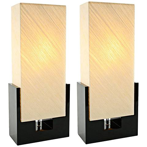 Alicia Black and Beige Uplight Table Lamp Set of 2