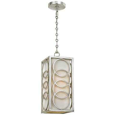 "Graham Collection 6 1/2"" Wide Antique Silver Mini Pendant"