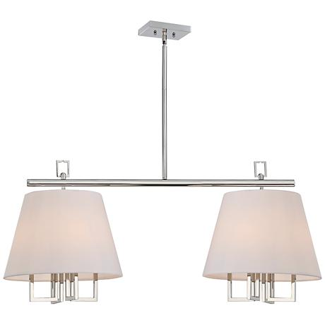 """Westwood Collection 42"""" Wide Double Shade Pendant Chandelier"""