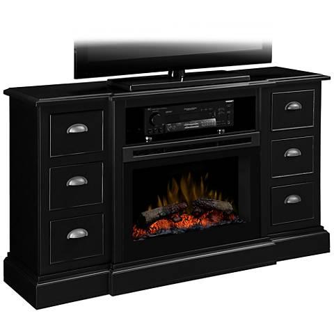 Gibbon's 3D Flame Electric Firebox Black Media Console