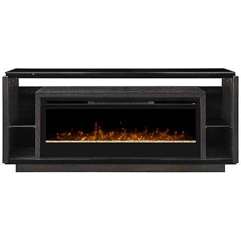 David Smoke Gray Media Console Panorama Electric Firebox
