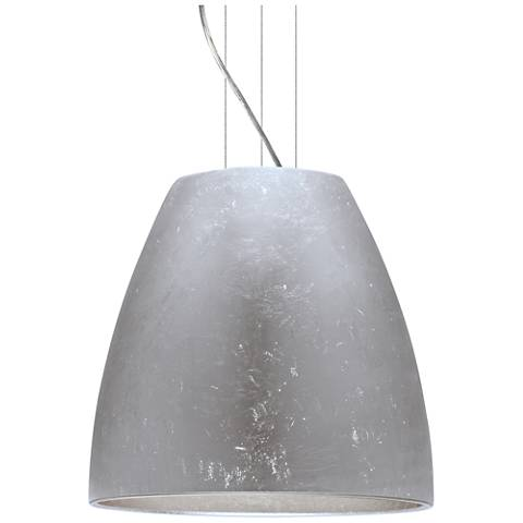 "Bella 19 3/4""W Silver Foil Satin Nickel LED Pendant Light"