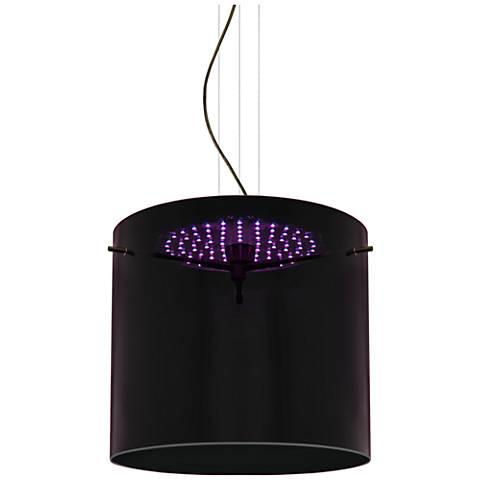 "Besa Fusion 11 3/4""W Purple Glass Bronze LED Mini Pendant"