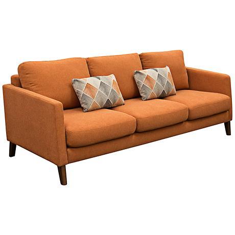 Keppel Hawaiian Sunset Retro Orange 3-Seat Sofa