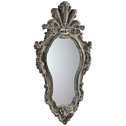 "Angela Whitewash 18 1/2"" x 35 1/2"" Wall Mirror"