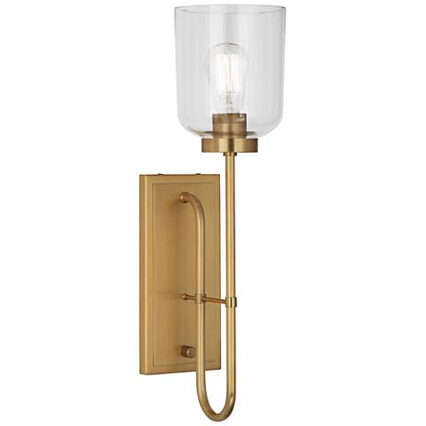 Tyrie Antique Brass Plug-In Wall Lamp