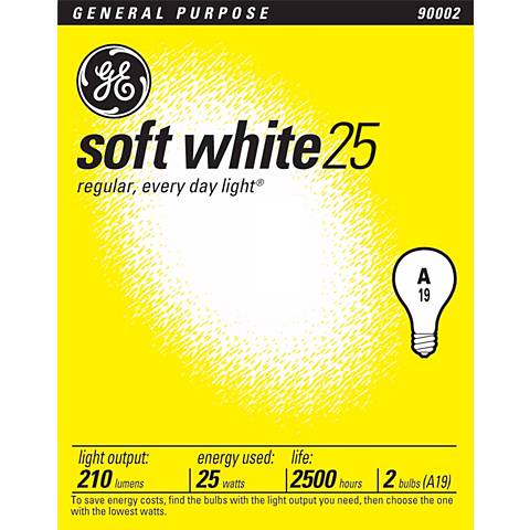 GE 25 Watt 2-Pack Soft White Light Bulbs
