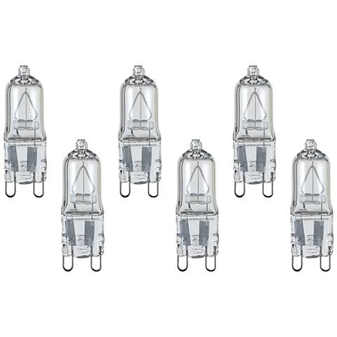 6-Pack Satco Clear 25 Watt 120 Volt G9 Halogen Light Bulbs