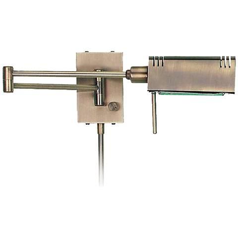 Lite Source Brass Pharmacy Plug-In Swing Arm Wall Lamp - #90325 Lamps Plus