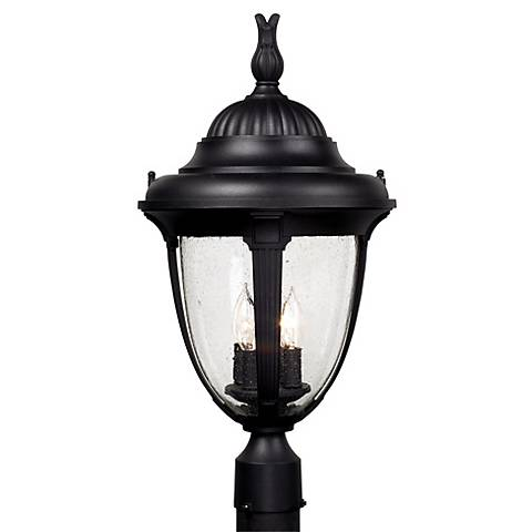 "Casa Sierra™ Collection 24 1/2"" High Black Post Mount"