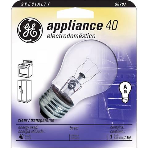 GE 40 Watt A15 Clear - Appliance Light Bulb