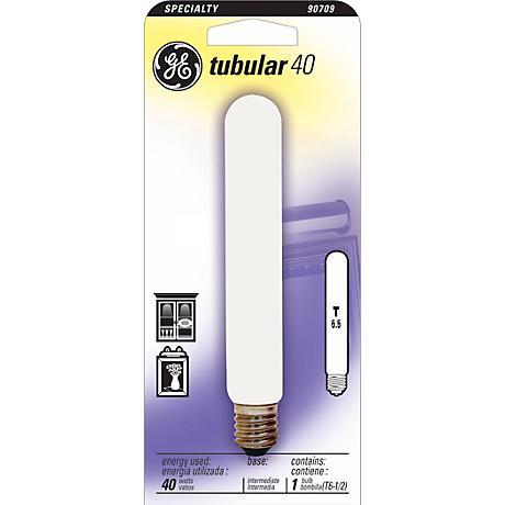 GE 40 Watt Intermediate Base Tube Light Bulb