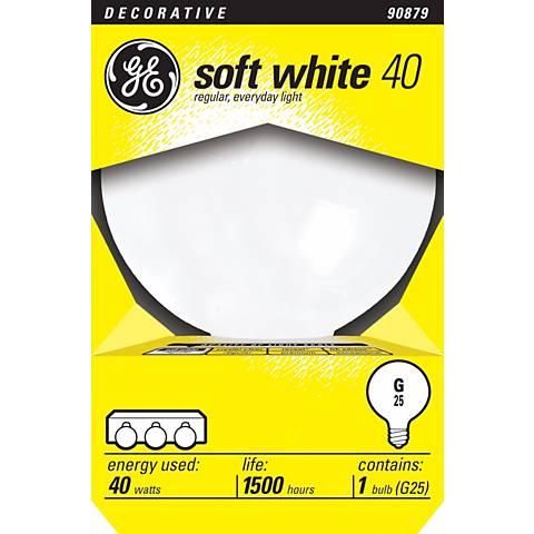 GE 40 Watt G25 Medium Base White Light Bulb