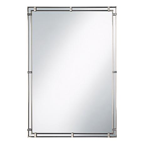 Feiss Parker Place Brushed Steel Wall Mirror