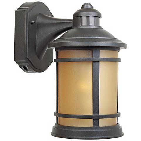 "Sedona Motion Sensor 7"" Wide Bronze Outdoor Wall Lantern"