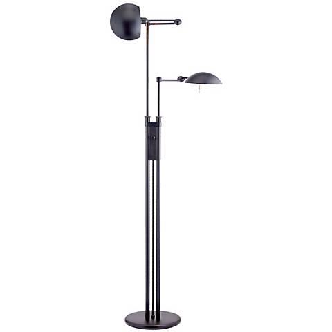 Holtkoetter Double Swing Arm Pharmacy Floor Lamp
