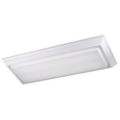 """ENERGY STAR ® White Crownmold 53"""" Long Ceiling Light"""