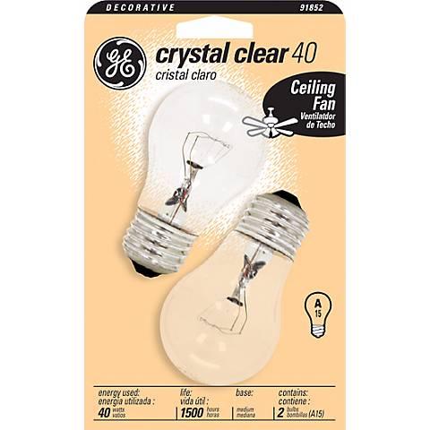 GE 40 Watt 2-Pack Clear Ceiling Fan Bulbs