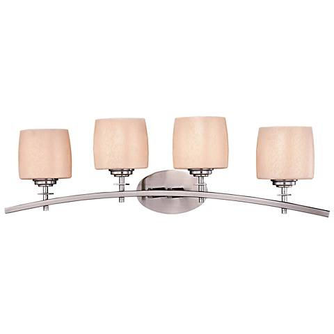 "Raiden 32 1/2"" Wide Brushed Nickel 4-Light Bath Light"