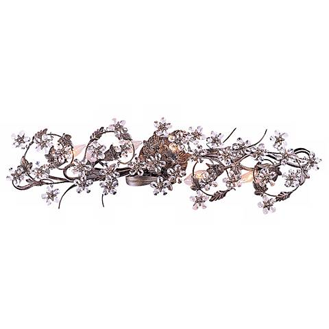 "Crystal Flower Vine 33 1/4"" Wide Bathroom Light Fixture"