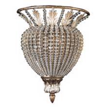 "Crystorama Roosevelt 13"" High Crystal Bead Wall Sconce"