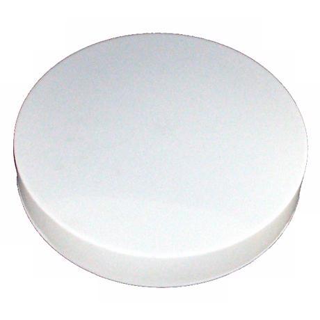 """White Finish 11"""" Wide Fluorescent Flushmount Ceiling Light"""