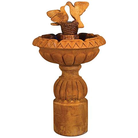 "Paloma Cascada 54"" High Pedestal Fountain by Henri Studio"