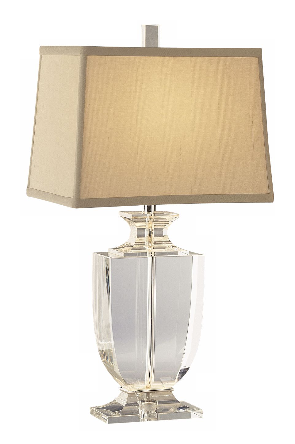 Artemis Accent Clear Crystal Cafe Shade Table Lamp