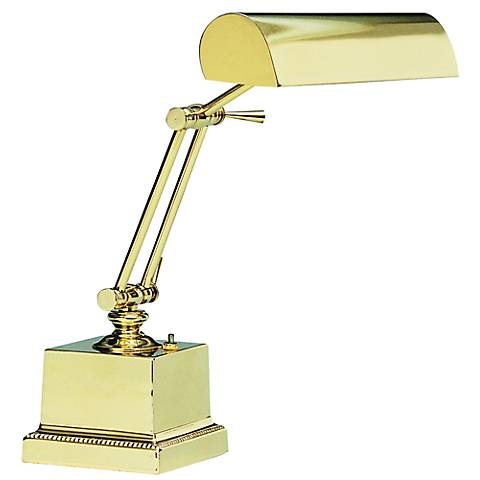 Square Base Solid Brass Piano Lamp