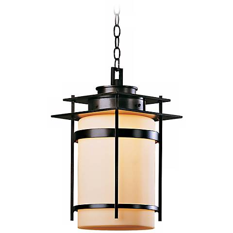 "Hubbardton Forge Banded 18 1/2"" High Outdoor Hanging Light"