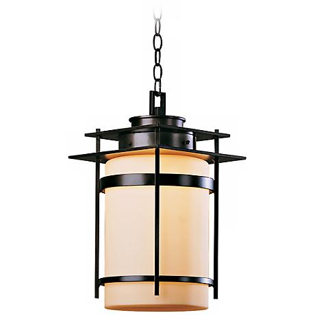 """Hubbardton Forge Banded 18 1/2"""" High Outdoor Hanging Light"""