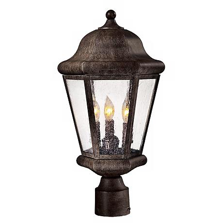 """Taylor Court Collection 19 1/4"""" High Post Mount Lantern"""