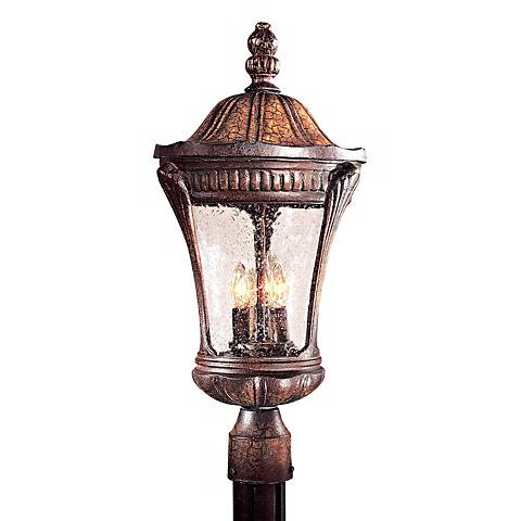 "Kent Place Collection 22 1/4"" High Post Mount Lantern"