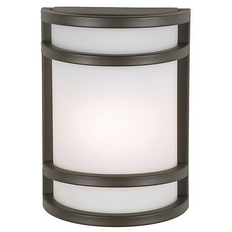 """Bay View Collection Bronze 9 1/2"""" High Outdoor Wall Light"""