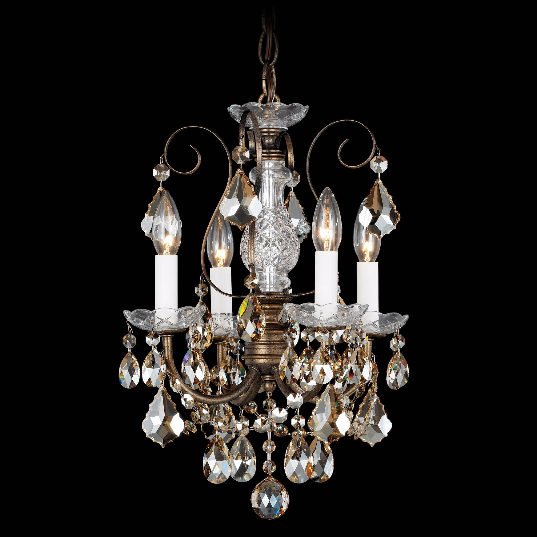 Primo Royal Cut Crystal 12 Light Flushmount Chandelier