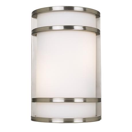 "Bay View Collection 12"" High Steel Finish Outdoor Wall Light"