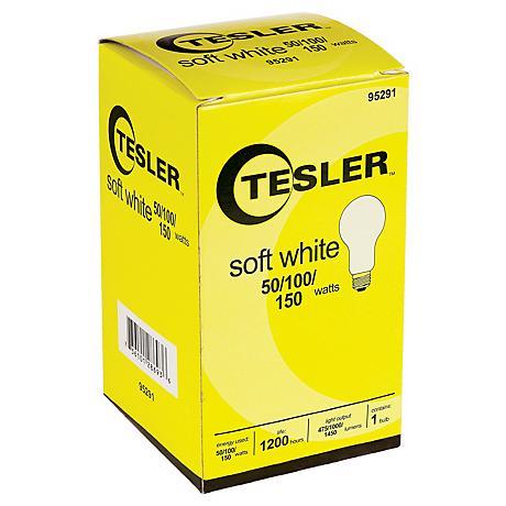 Tesler 50 100 150 Soft White A21 Light Bulb