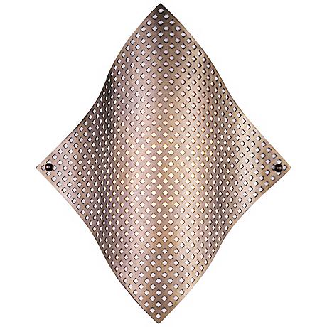 """George Kovacs Perforated Steel 17"""" High Wall Sconce"""