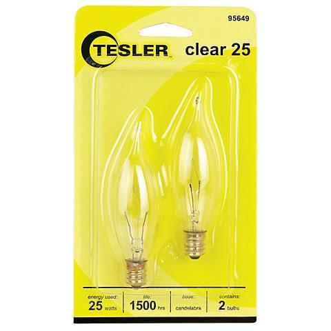 Tesler 25 Watt 2-Pack Bent Tip Candelabra Light Bulbs