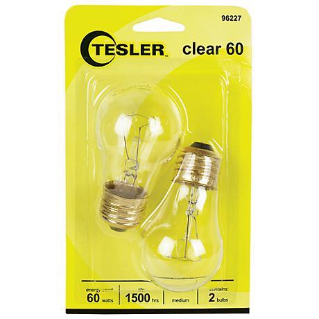Tesler 60 Watt 2-Pack Clear Ceiling Fan Light Bulbs
