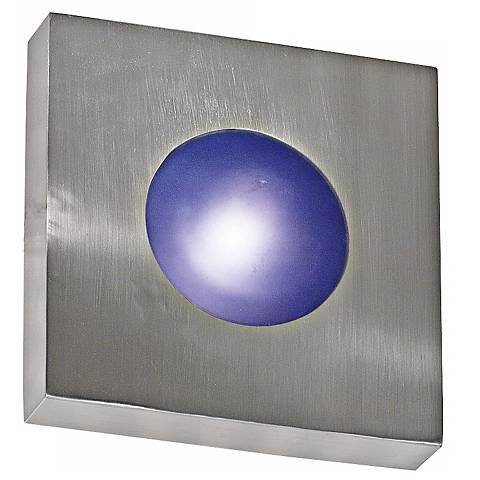 "Burst Aluminum 8"" Square Outdoor Wall or Ceiling Light"