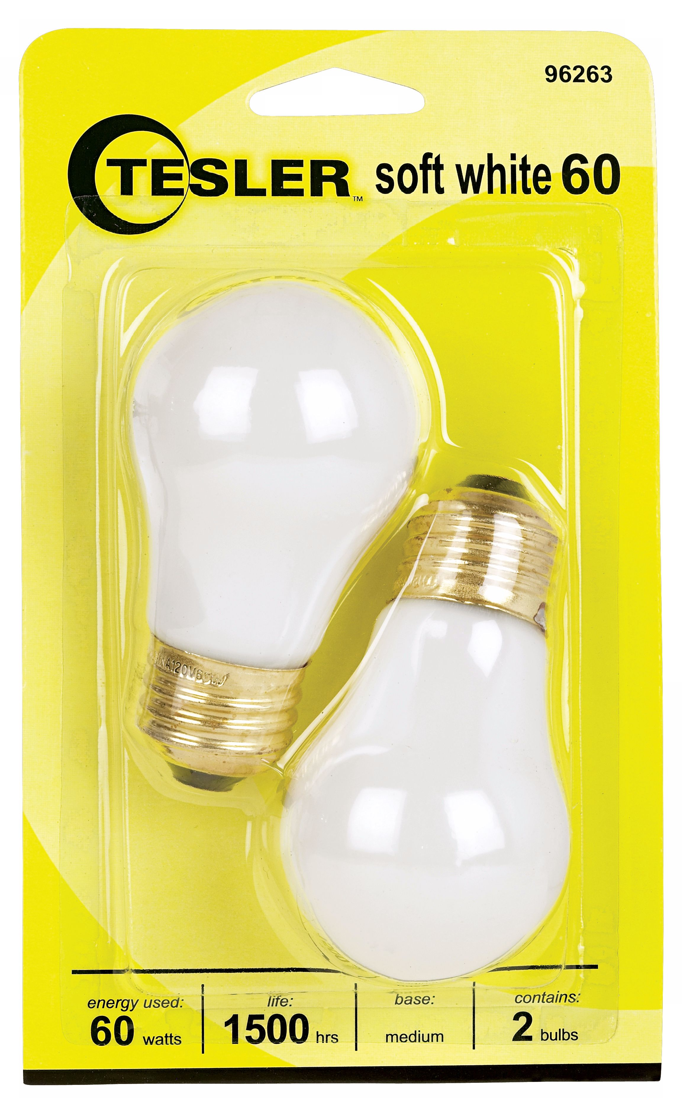 Tesler 60 Watt 2-Pack Soft White Ceiling Fan Light Bulbs  sc 1 st  L&s Plus & Tesler 60 Watt 2-Pack Soft White Ceiling Fan Light Bulbs - #96263 ... azcodes.com