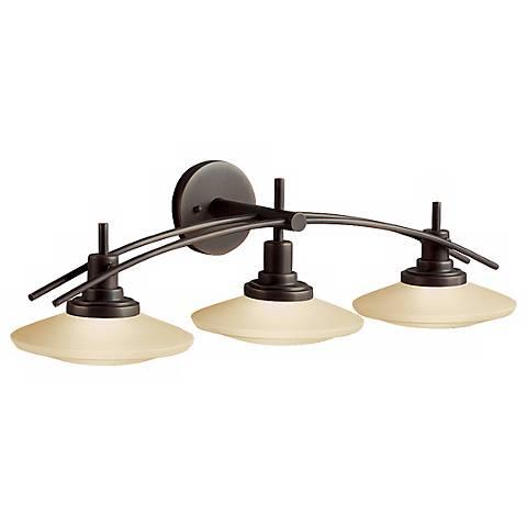 """Structures Bronze 30"""" Wide Bathroom Light Fixture"""